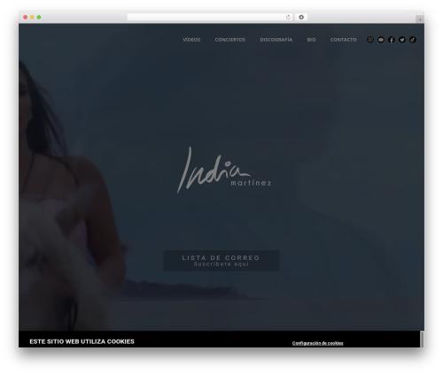 Roadie WordPress theme - indiamartinez.es