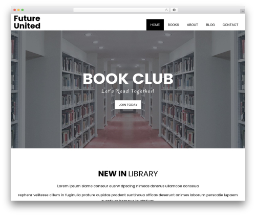 WordPress template Book Club - future-united.one