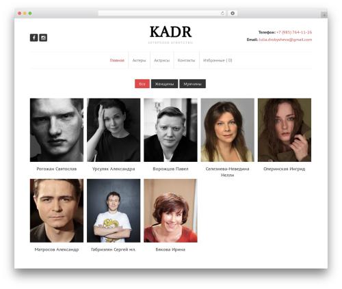 WordPress theme Gilda - a-kadr.ru