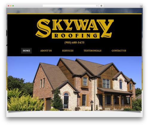 WordPress theme Laurel - skyway-roofing.ca