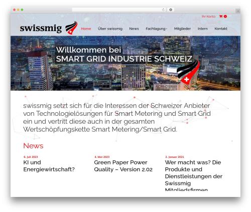 WordPress vcparticlesbackground plugin - swissmig.ch