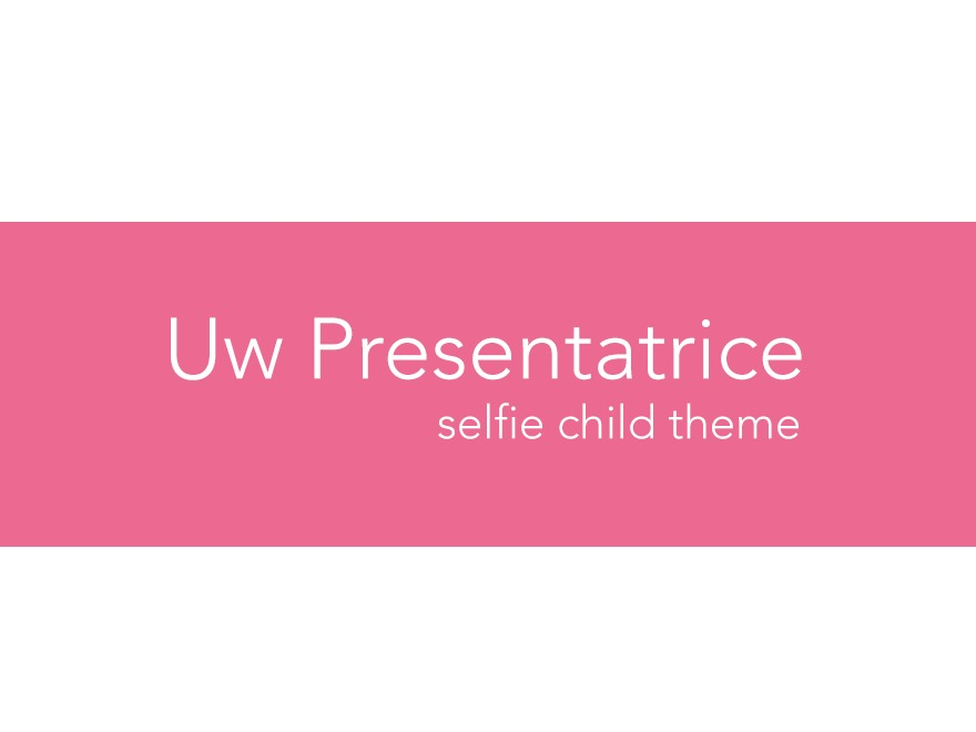 WP template Presentatrice