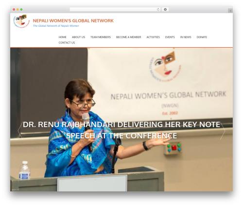 AccessPress Parallax free WordPress theme - nepaliwomen.org