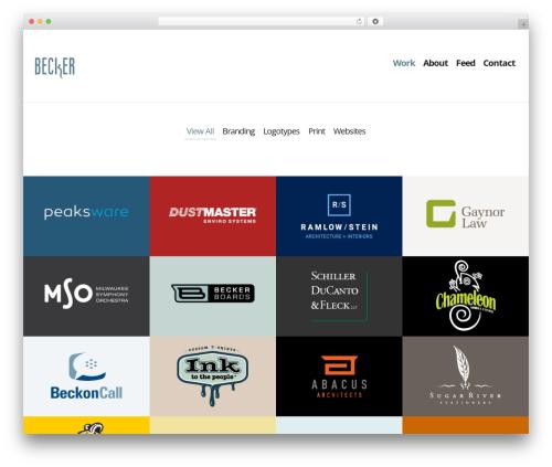 Becker Design theme WordPress - beckerdesign.net