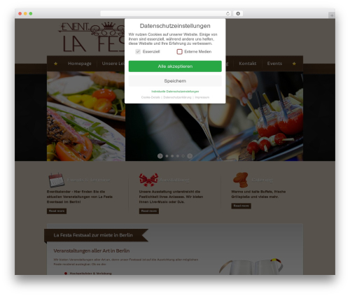 Best WordPress template Bordeaux Premium Theme - lafesta-berlin.de
