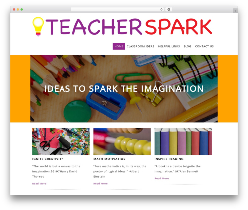 Best WordPress theme Litesite - teacherspark.org