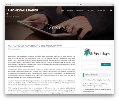 BizPlus WordPress theme design - iphone-wallpapers.org