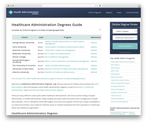WordPress megamenu-pro plugin - healthcareadministrationdegrees.org