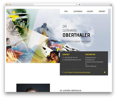 Legal free WP theme - oberthaler.info