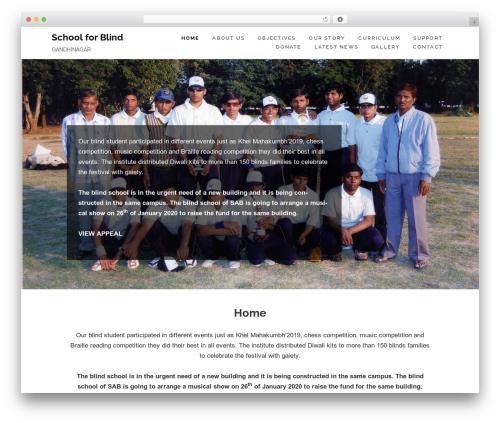 Maisha Lite theme WordPress free - schoolforblind.org