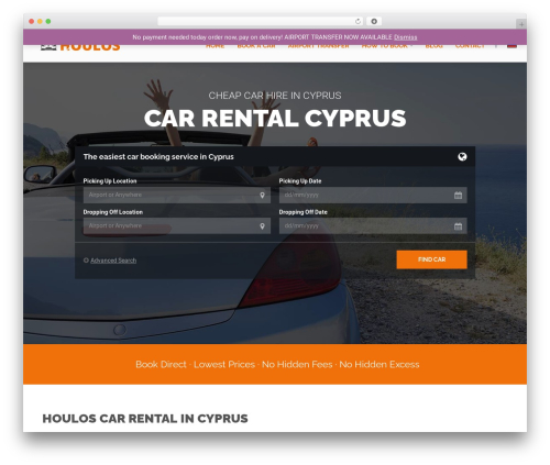 RentIt automotive WordPress theme - carrentalcyprus.co.uk