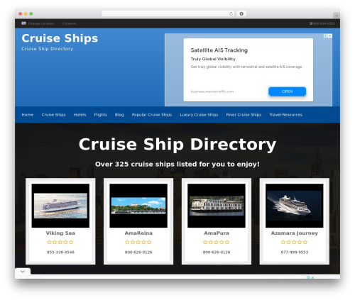 Responsive Business Theme WordPress theme - cruiseshipdirectory.net