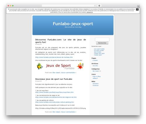 Thème par défaut WordPress theme - funlabo.unblog.fr