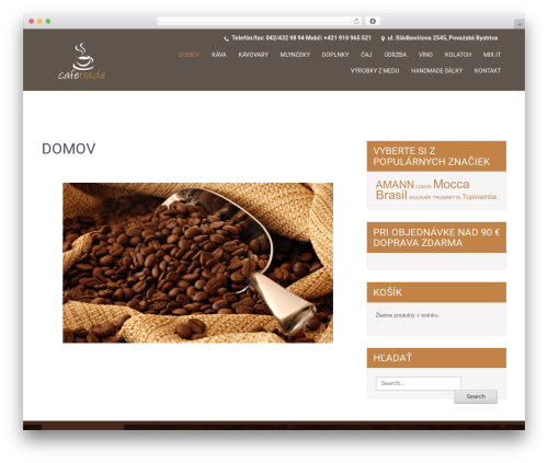 WordPress theme SKT Coffee - cafetrade.sk