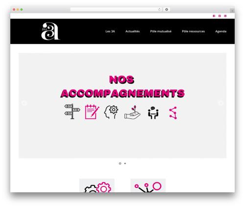 WordPress theme VenueX - les3a.fr