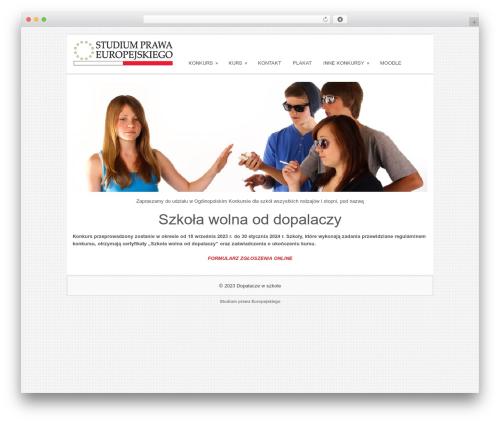 WordPress website template Sofix - dopalaczewszkole.pl