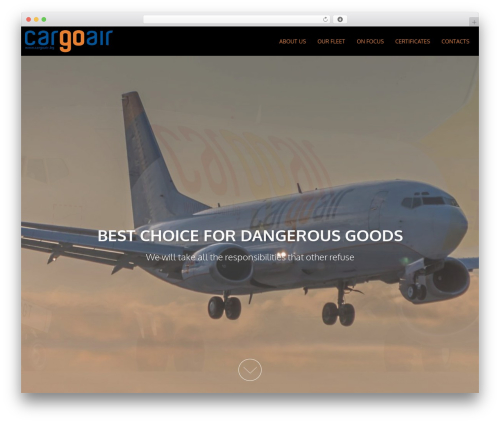 AccessPress Parallax free WordPress theme - cargoair.bg