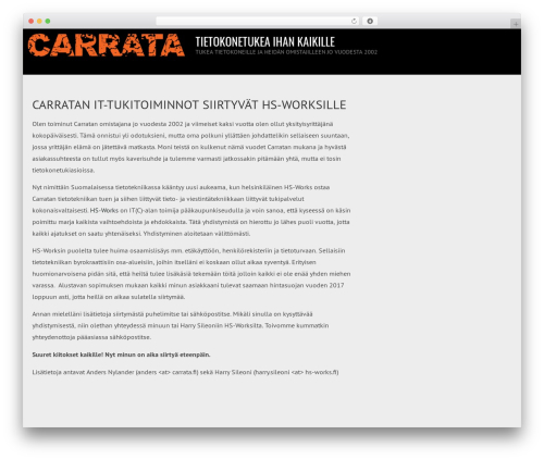 AccessPress Root Pro WordPress theme - carrata.net