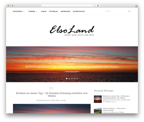 Activello free WP theme - elsoland.de