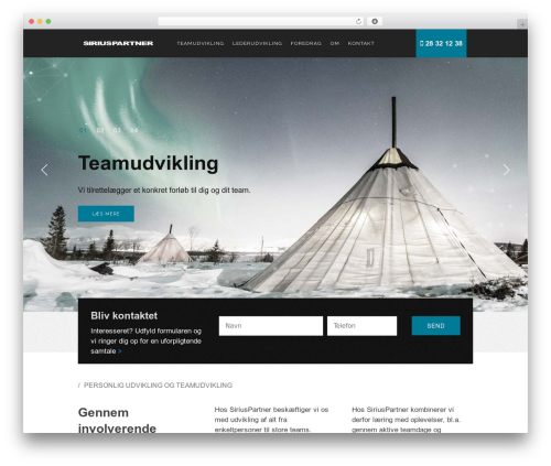 Avanti best WordPress template - siriuspartner.dk