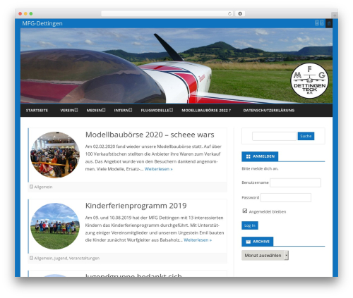 Best WordPress theme Ribosome Pro - modellfluggruppe-dettingen.de