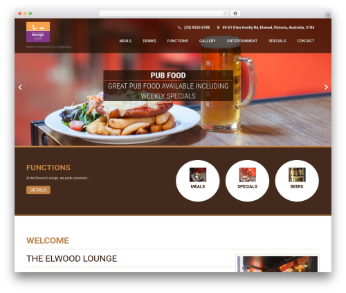 Coffee Pro WordPress page template - elwoodlounge.com.au
