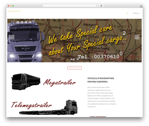 Contractor template WordPress - cargocontinental.lt