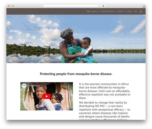Divi WordPress theme - nomofoundation.gives