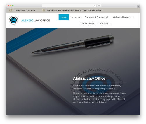 Lawyer by Osetin WordPress template for business - aleksic.biz
