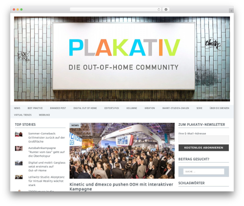 Free WordPress 3D Tag Cloud plugin - plakativ-magazin.de