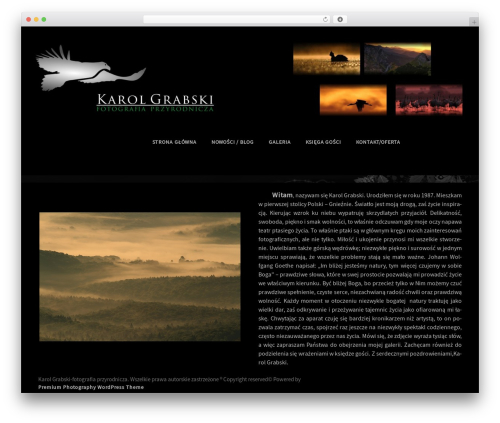Premium Photography WordPress theme download - karolgrabski.pl
