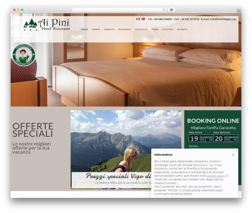 pump best hotel WordPress theme - hotelaipini.net