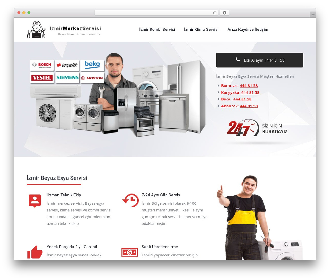 The7 WordPress template - izmirmerkezservisi.xyz