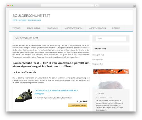 Theme WordPress MH Edition lite - boulderschuhe-test.de