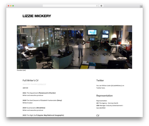 Touch WordPress website template - lizziemickery.net