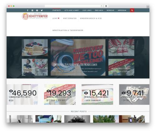 WordPress template Dizzy - knitterfee.de