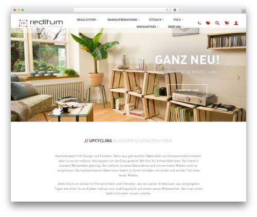 WordPress website template Merchandiser - reditum.de