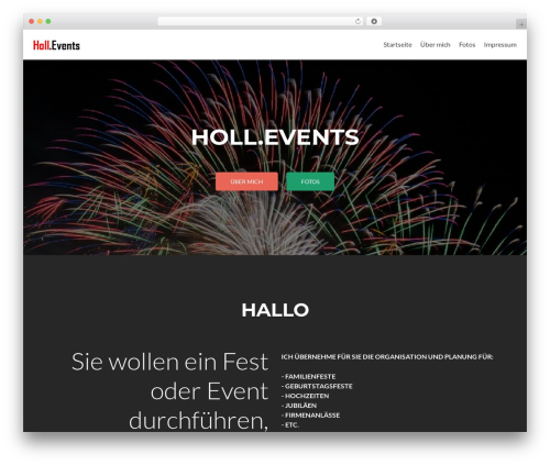 Zerif Lite best free WordPress theme - holl.events