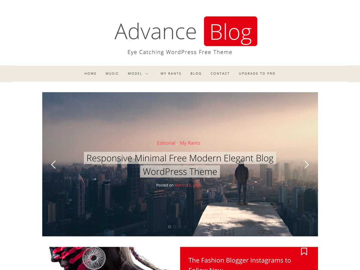 Advance Blog newspaper WordPress theme