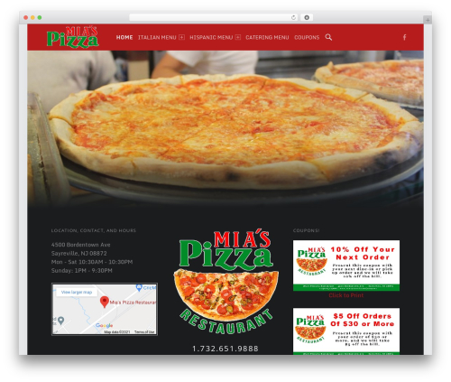 Auberge Plus WordPress theme - miaspizzeria.net