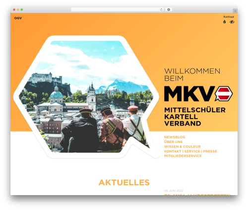 Best WordPress theme Main Theme - mkv.at
