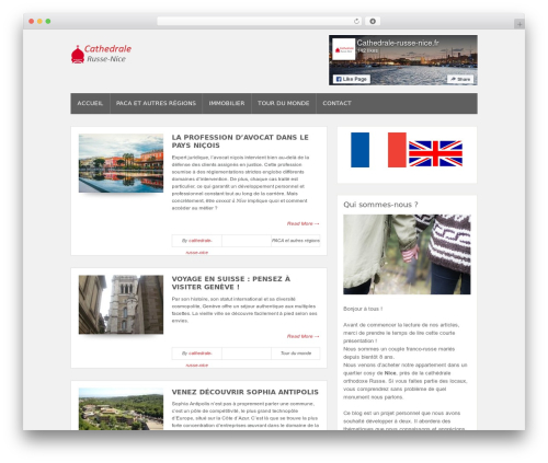 Bloggie Theme WordPress blog theme - cathedrale-russe-nice.fr