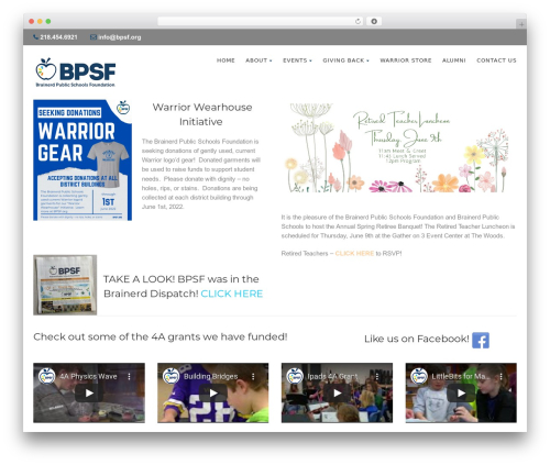 Born To Give WordPress template - bpsf.org