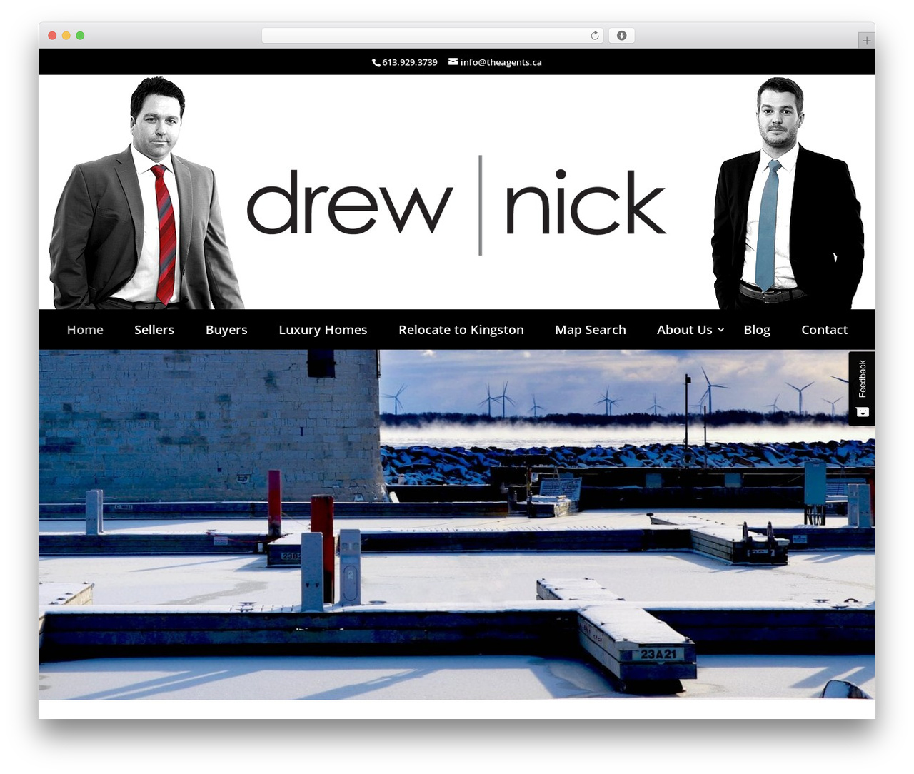 Divi WordPress page template - drewandnick.ca