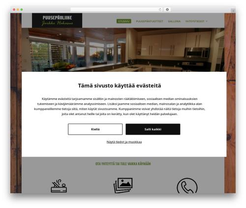 Divi WordPress template - puusepanliikehakasuo.fi