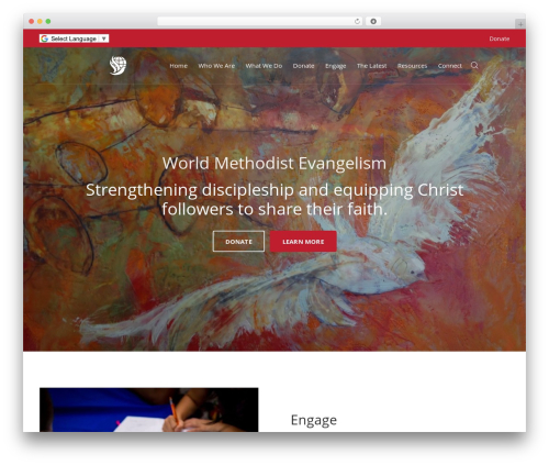 Engage WP theme - worldmethodist.org