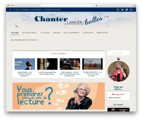 Extra theme WordPress - chantercestlancerdesballes.fr