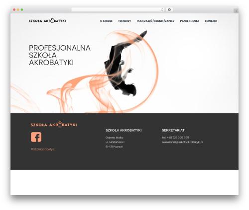 Harest top WordPress theme - szkolaakrobatyki.pl