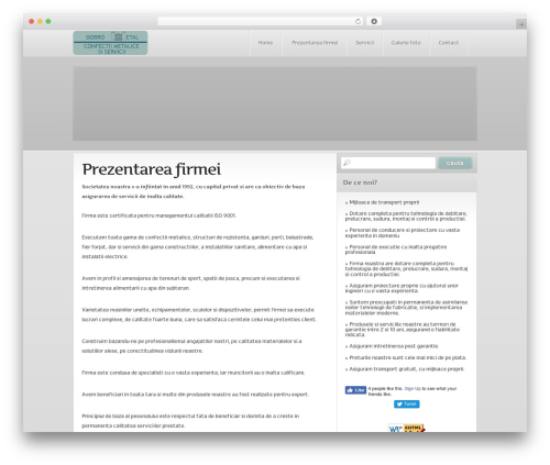 Idris template WordPress - confectiimetalicedobro.ro