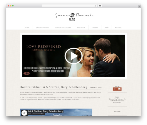 ProPhoto best WordPress video theme - borinskimedia.de